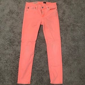 """AG Coral """"The Stevie Ankle"""" Jeans"""